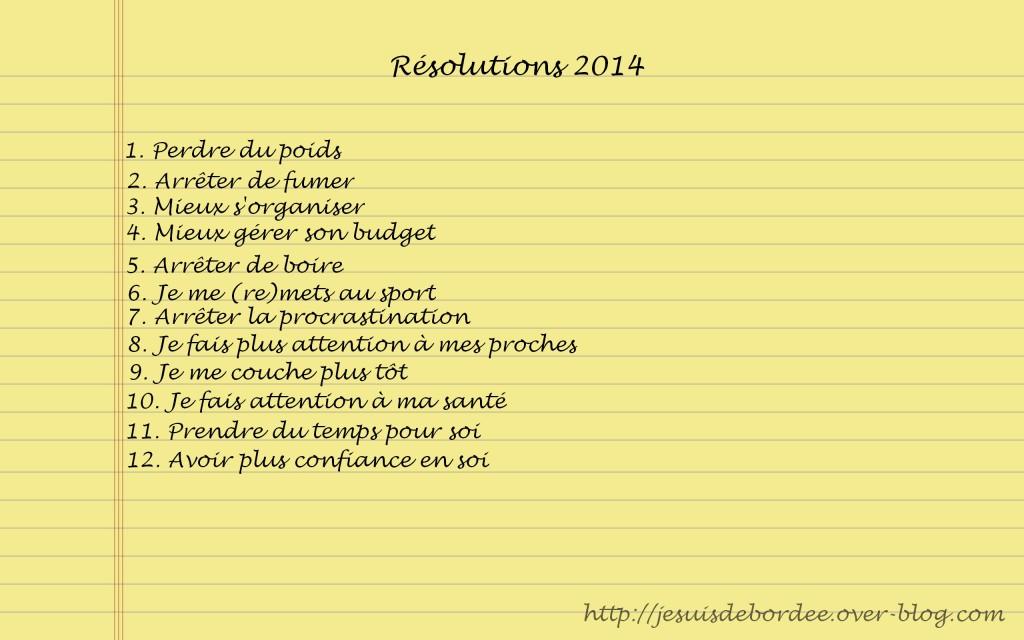 Résolutions 2014