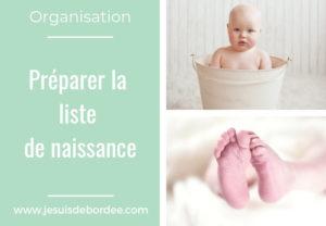 Préparer la liste de naissance