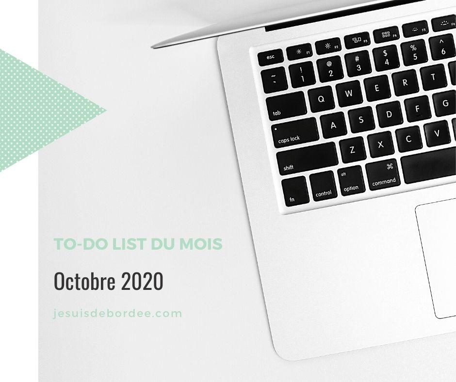 to-do list d'octobre