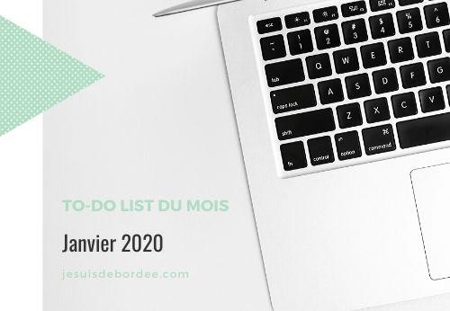 To-do list janvier 2020