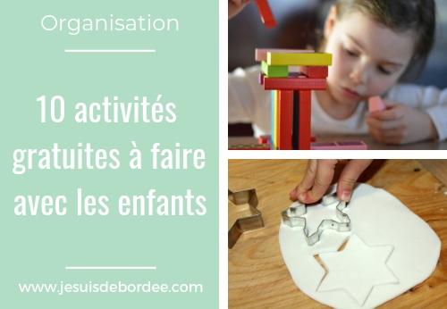 10 activités gratuites à faire avec les enfants