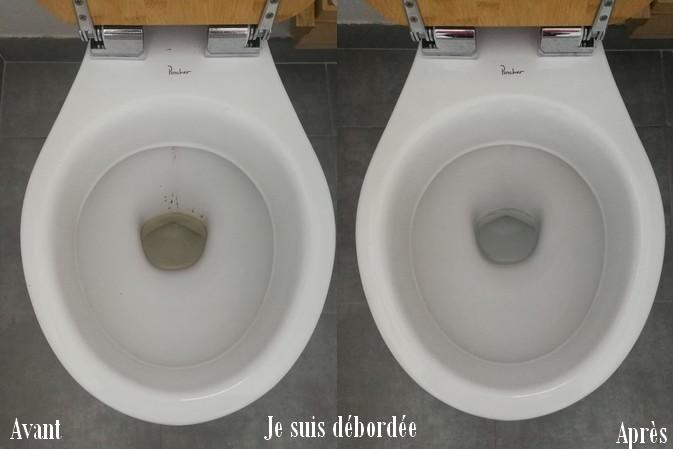 avant après ménage WC