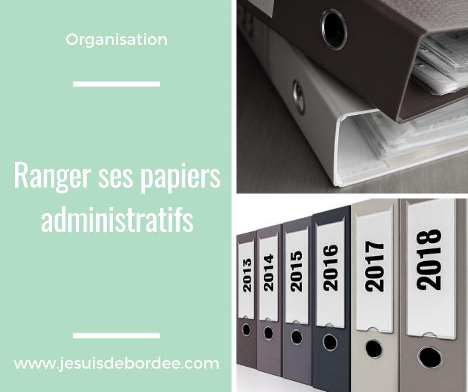 Ranger ses papiers administratifs