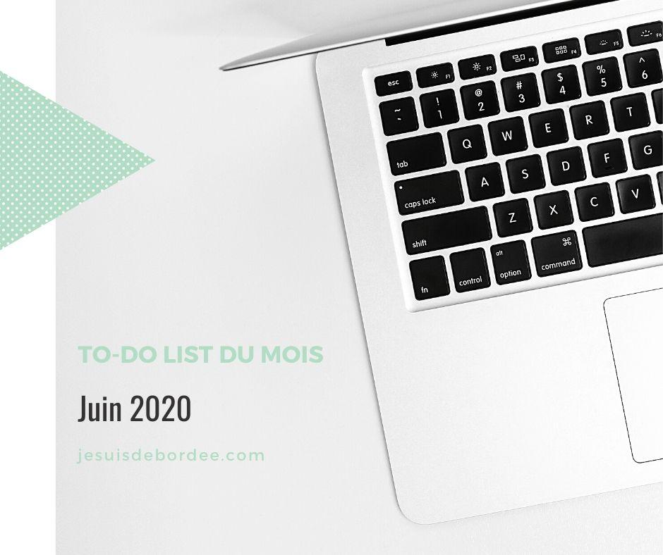 To-do list juin