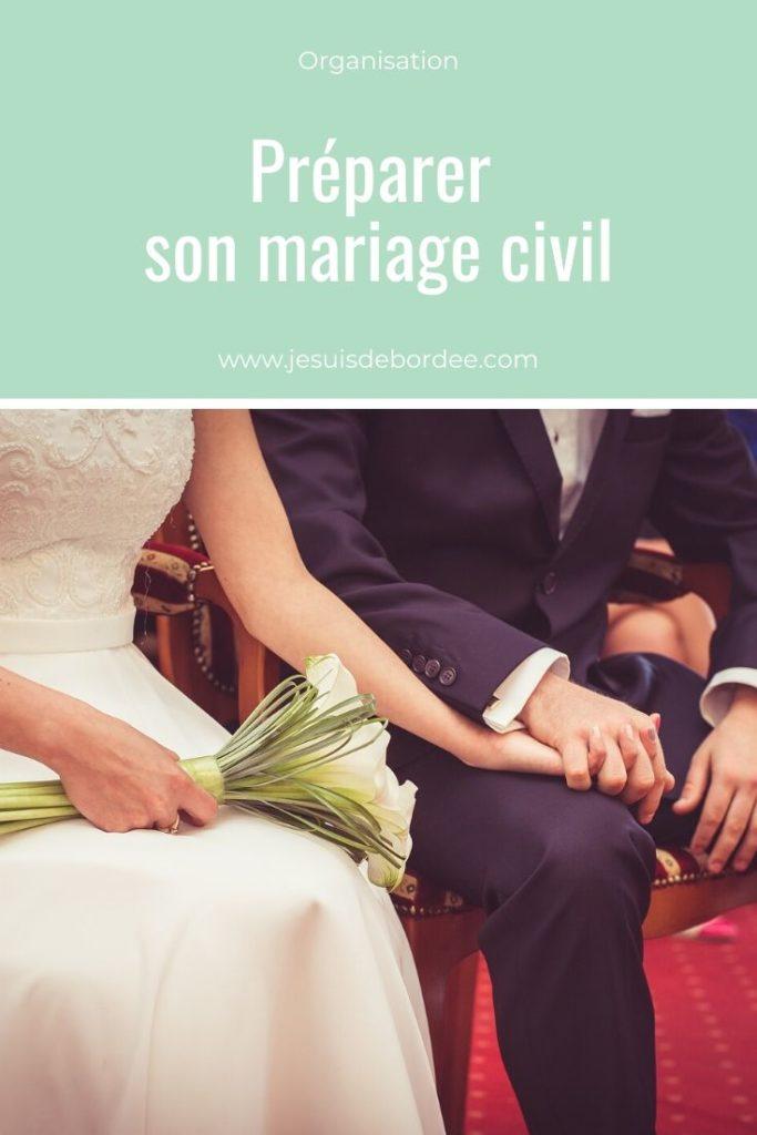 préparer son mariage civil
