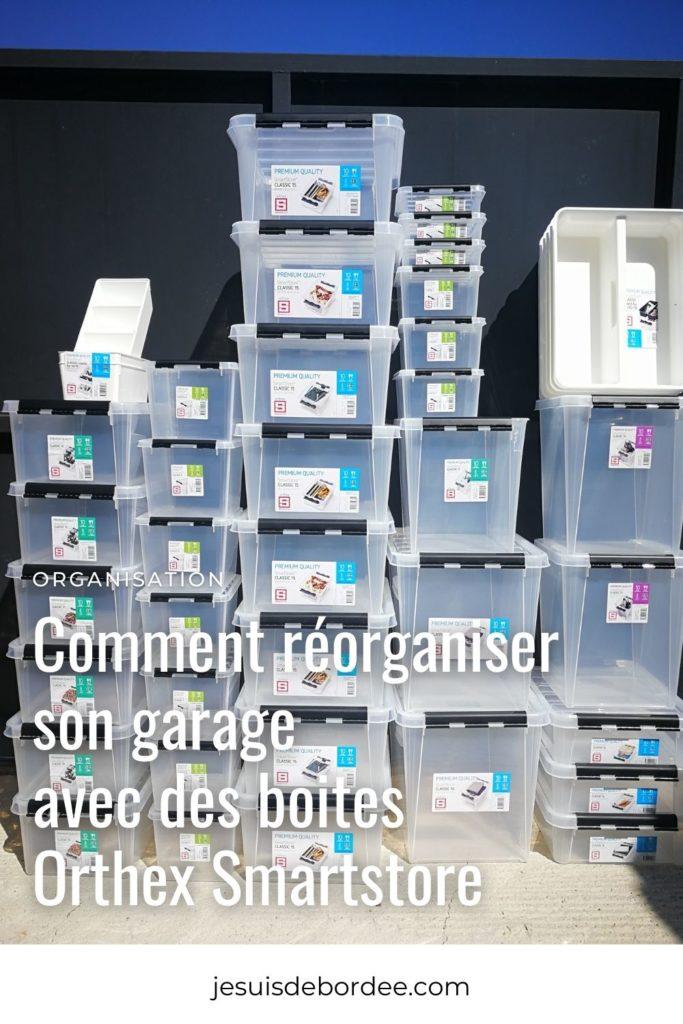 Comment réorganiser son garage avec des boites Orthex Smartstore