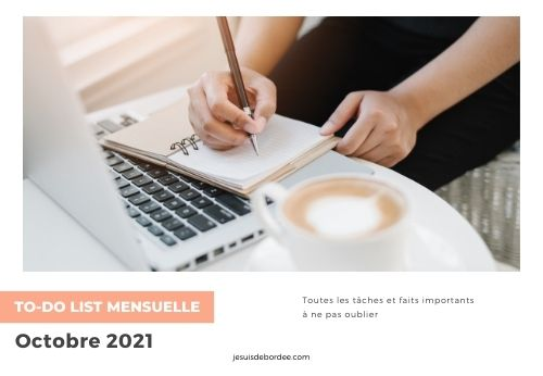 To-do list d'octobre 2021